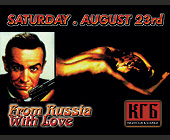 From Russia With Love at KGB Nightclub - KGB Nightclub Graphic Designs