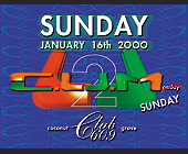 C.U.M Sunday at Club 609 in Coconut Grove - tagged with 2ooo