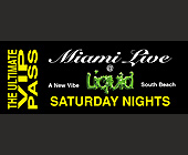 Miami Live VIP Pass at Liquid Nightclub - 645x1650 graphic design