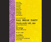 Fall Break Party at Tantra - Restaurant