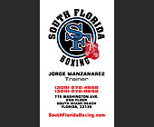 South Florida Boxing with Jorge Manzanarez - Fitness Graphic Designs