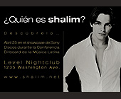 Shalim at Level Nightclub - Level Nightclub Graphic Designs