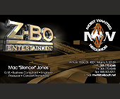 Z-Bo Entertainment Business Cards - designed by Jesse James