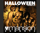Halloween Night at Club Mansion - 1500x1500 graphic design