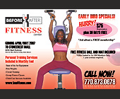 Before After Fitness Center - Gym Graphic Designs