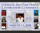 Strategic End Time Prayer & Intercessor's Conference - tagged with 30 am