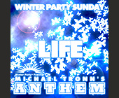 Winter Party Sunday - Mansion Nightclub Graphic Designs