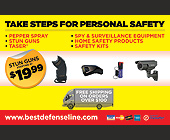 Take Steps for Personal Safety - Postcards Graphic Designs