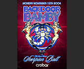 Back Door Bamby Scorpion Ball  - Events Graphic Designs