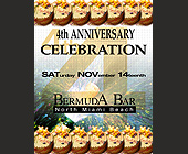Fourth Anniversary of Bermuda Bar - tagged with budweiser logo